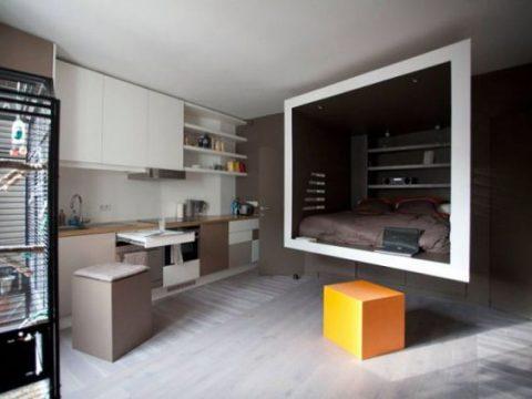 Créer une boîte pour y placer un bureau et son lit !