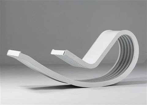 La chaise à bascule Dondolo par Franca Stagi et Cesare Leonardi