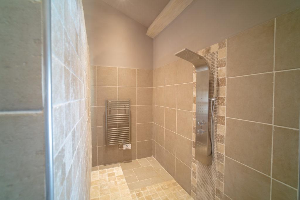 La douche toute ouverte