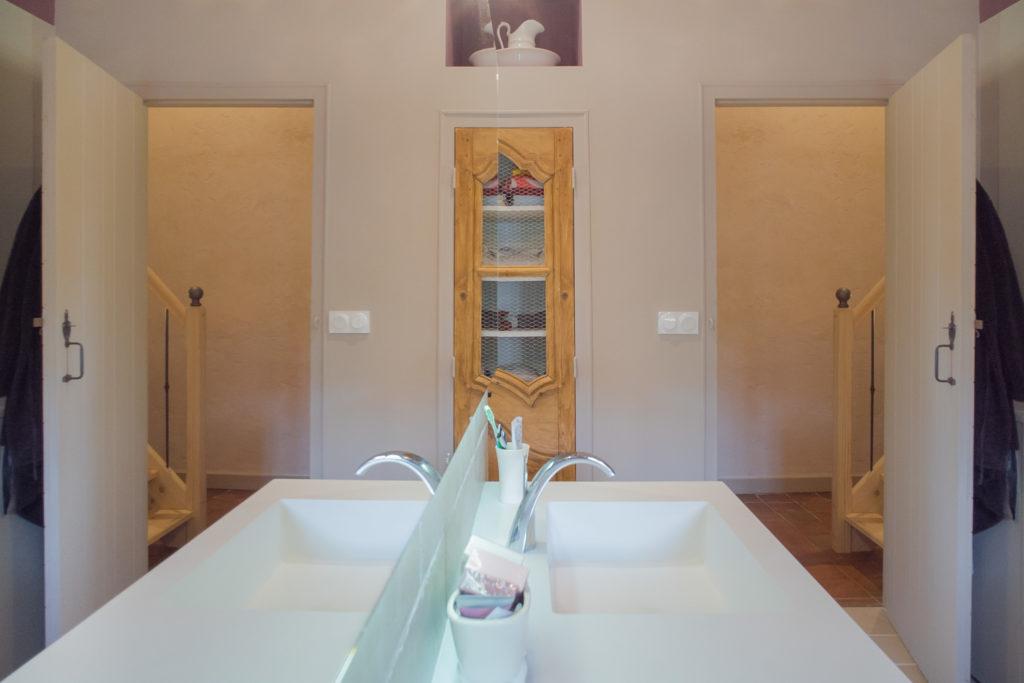 Perspective de l'entrée de la salle de bain