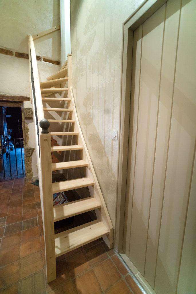 L'escalier menant au bureau Tintin