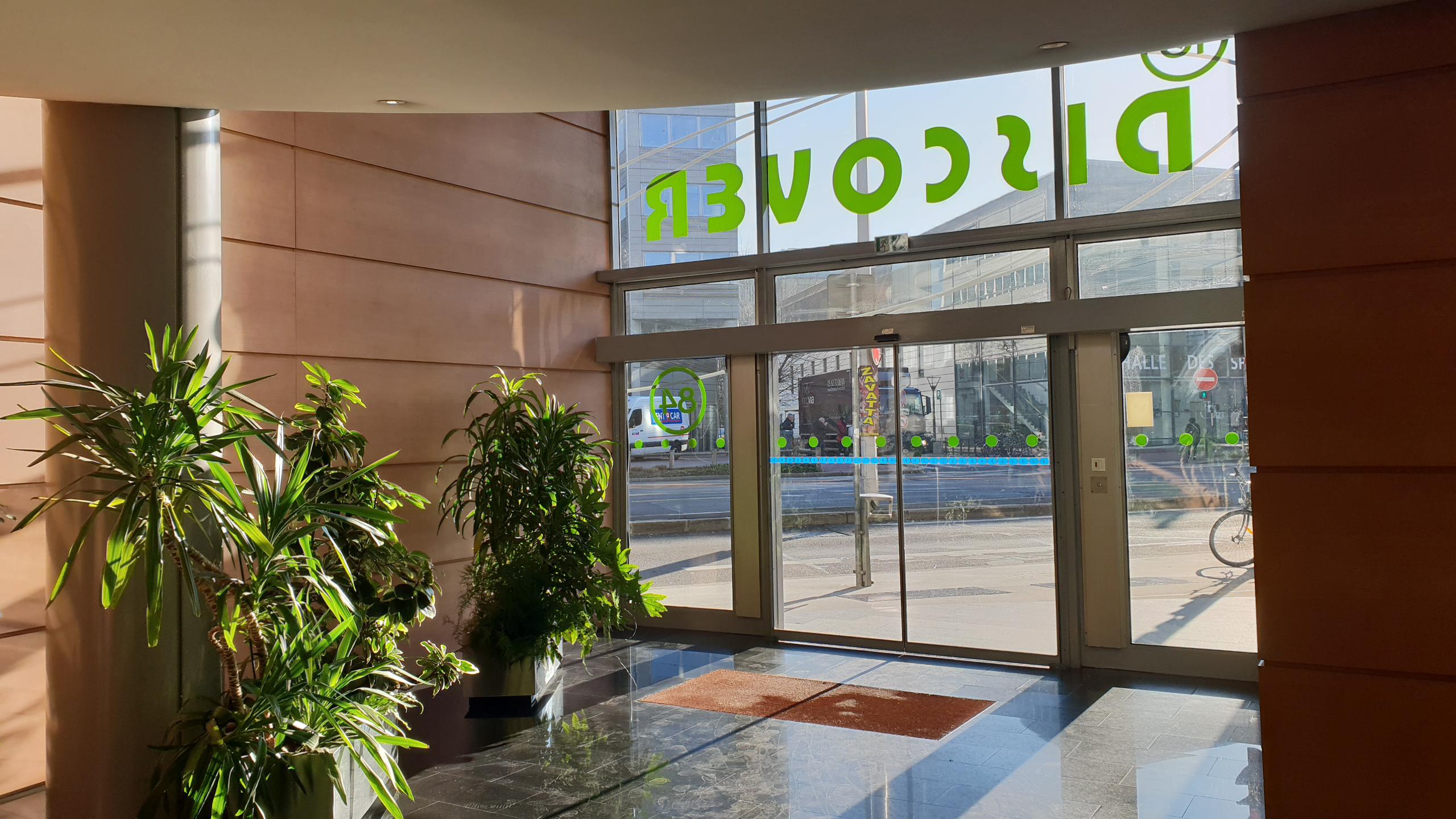 Hall d'entrée existant de l'immeuble