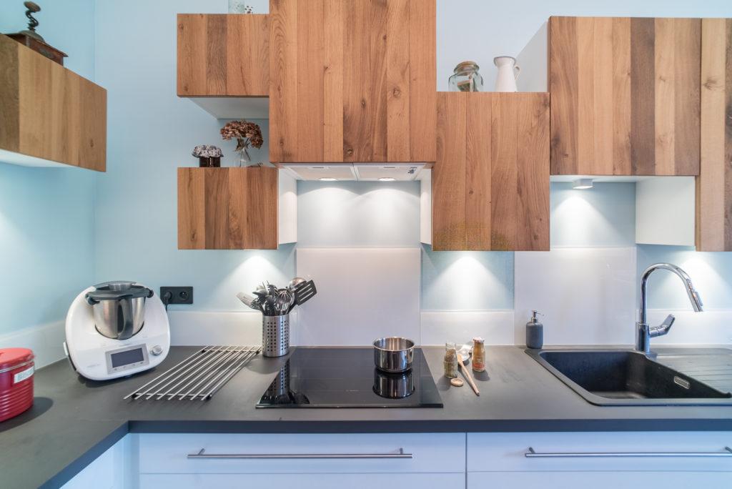 Détail de meuble dans la nouvelle cuisine des Limoncello