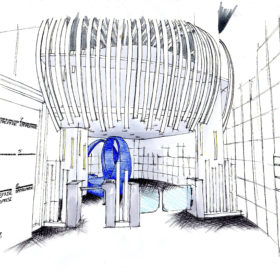 Projet final pour le hall d'entrée de l'immeuble