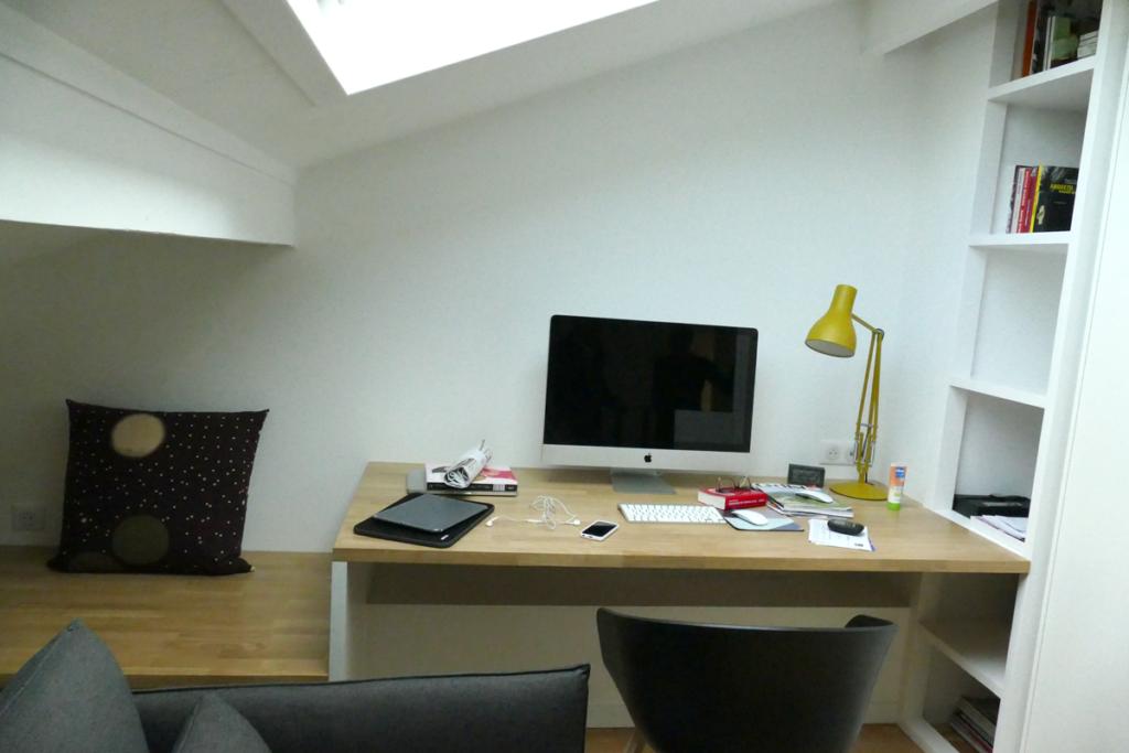 Le bureau à l'étage dédié à mon client entrepreneur